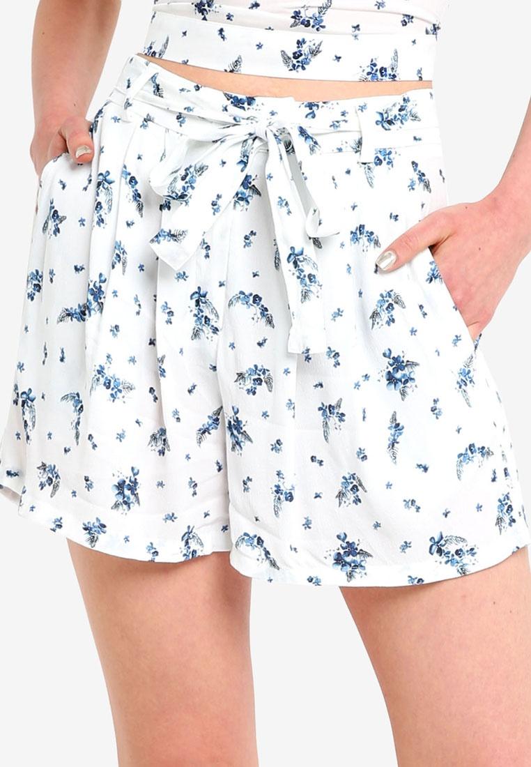 Jack Wills Blue Short Tie Inchberry White Waist 4FwZWrx4dq