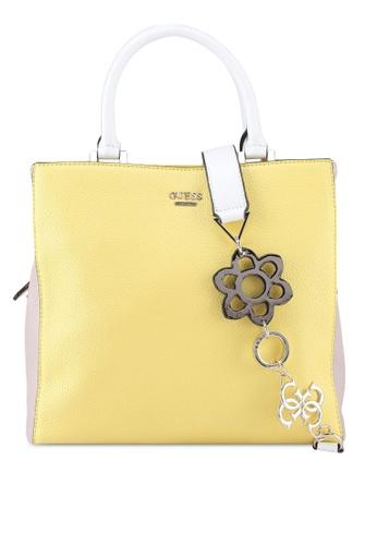 Guess white and yellow Dania Girlfriend Shopper Bag 0CE64AC5704C6FGS_1