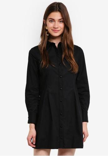 Something Borrowed black Collared Shirt Dress C140CAAD195246GS_1