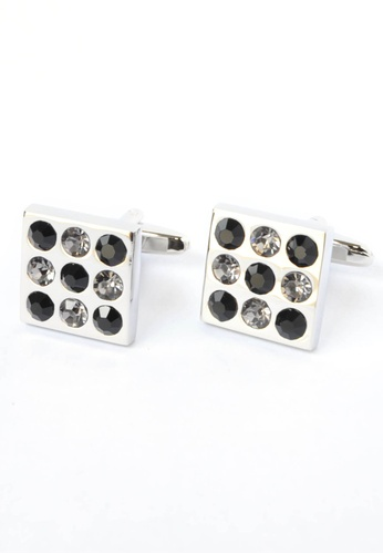 Splice Cufflinks black and white Black & White Crystals Square Cufflinks SP744AC59CQYSG_1