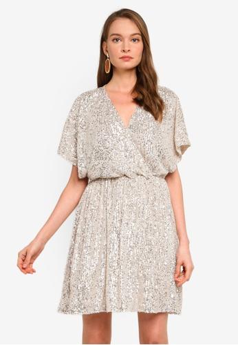 Tussah silver Jatora Mini Dress 20031AAD470248GS_1