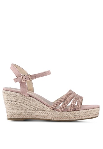 Dorothy Perkins pink Rose Riley Wedge Sandals 0CCBESH9A18C1AGS_1