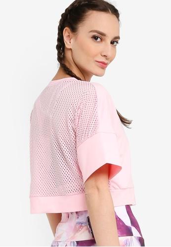 ZALORA ACTIVE pink Crop Back Mesh Sports T-Shirt CB364AA1BC397DGS_1