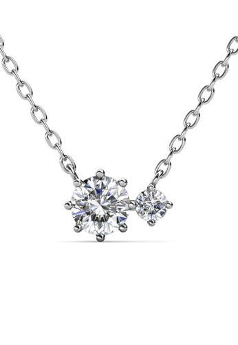 Her Jewellery silver Duo Jane Pendant -  Made with premium grade crystals from Austria HE210AC0H974SG_1
