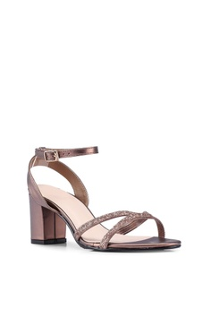 cc4bfa5eafc DMK Ankle Strap Glitter Heel Sandals HK$ 239.00. Sizes 35