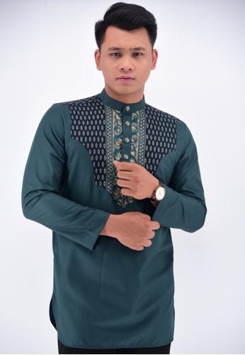 UA BOUTIQUE green Kurta Batik KLC13-071 (Green) 862BCAAB9965E3GS_1