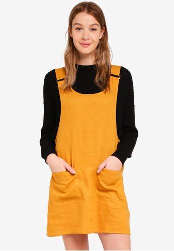 Cotton On yellow Woven Utility Pinafore Dress 7FC99AAC25A3E9GS_1