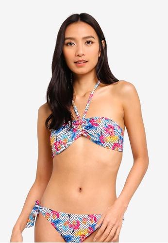 37d376622 OVS multi Stretch Patterned Bandeau Bikini Bra Top 61FC5US4CB7786GS 1