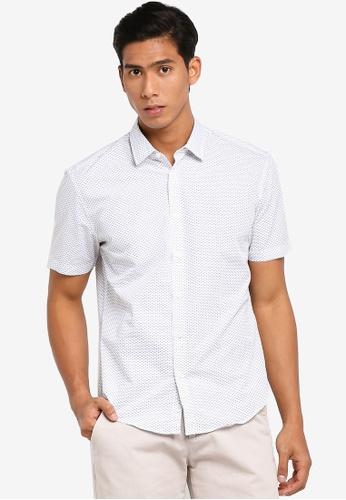 ESPRIT 白色 Shirts Woven Short Sleeve 3BB92AA37D4BE9GS_1