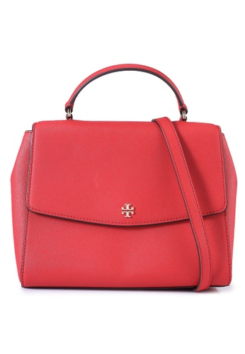 TORY BURCH red Emerson Structured Satchel Bag (NT) 0BFC9AC3C36A49GS_1