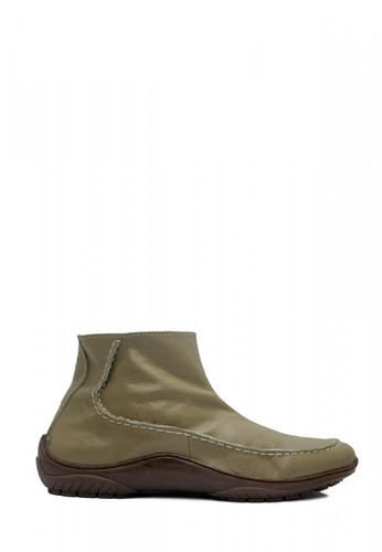 D-Island grey D-Island Shoes Zipper Slip On Rajut Genuine Leather Grey DI594SH72SJBID_1