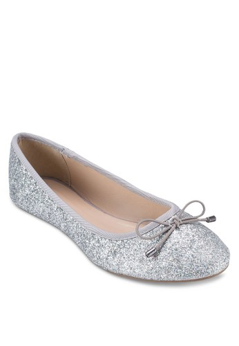 蝴蝶結閃面娃娃鞋, 女鞋, 芭蕾平esprit outlet 桃園底鞋