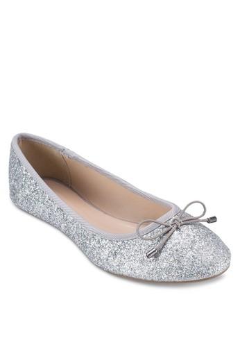 esprit 高雄蝴蝶結閃面娃娃鞋, 女鞋, 芭蕾平底鞋