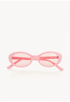 fb61cee44d Oval Frame Tinted Sunglasses - Pink F3A10GL2777BE6GS 1 Pomelo ...