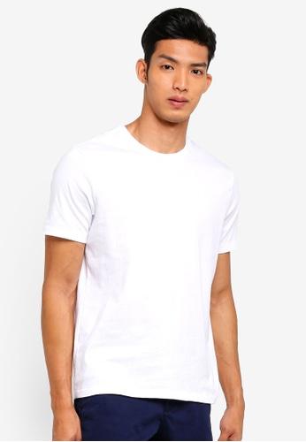 GAP white Essential Crewneck T-Shirt 030E2AA4311FB7GS_1