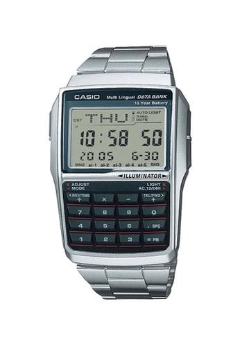 Casio silver Casio Men's Digital DBC-32D-1ADF Calculator Databank Watch 12311AC35D14B9GS_1