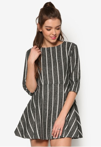 羊毛混紡條紋洋裝, esprit台灣outlet服飾, 洋裝