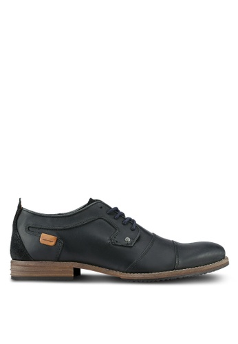 Dune London black Double Toecap Gibson Derbies DU588SH0RK69MY_1