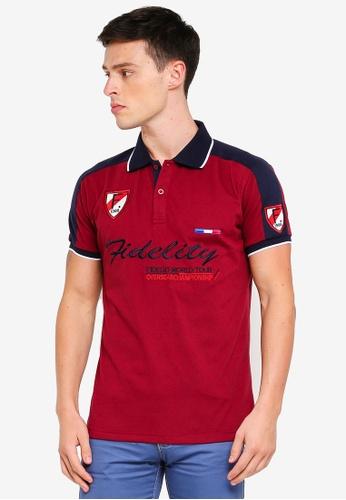 Fidelio 紅色 刺繡POLO衫 89AD9AAEBDD5F4GS_1