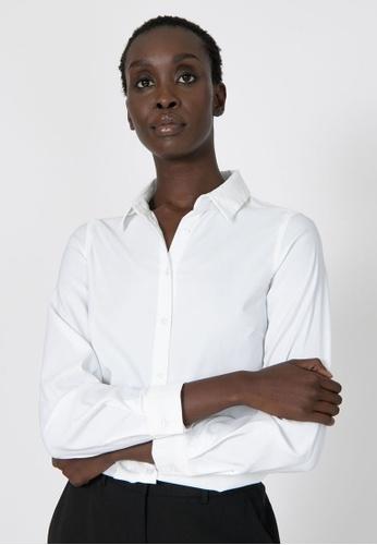 FORCAST white FORCAST Morgan Collared Shirt 5B0A2AA0CF7B9EGS_1