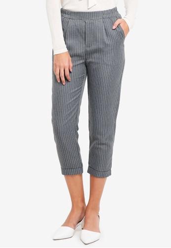 ZALORA grey Pinstripe Pants 7B8C9AABDBBB72GS_1