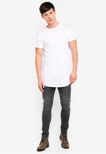 87244d53 Buy Topman White Longline T-Shirt Online on ZALORA Singapore