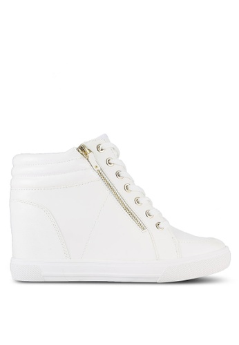 ALDO white Kaia Wedge Sneakers AL087SH0RL9AMY_1
