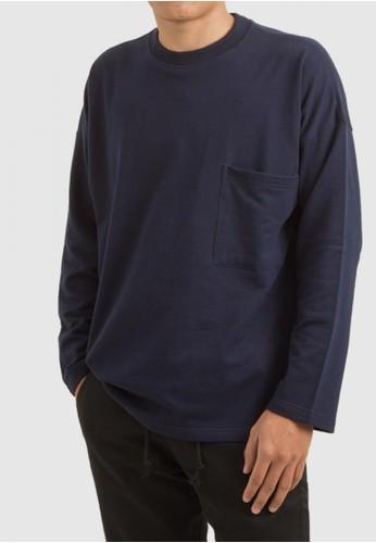 THE GOODS DEPT blue and navy THE GOODS DEPT - Sam Pocket T-Shirt Dark Blue DA6A9AACF4A103GS_1