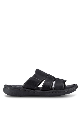 Louis Cuppers black Casual Sandals LO977SH33RDAMY_1
