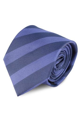 Gay Giano blue University Striped Sik Tie DB5B8AC0259050GS_1