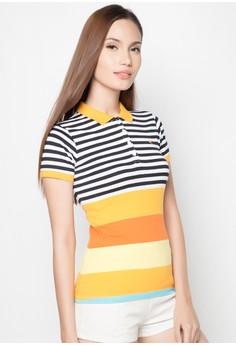 Slim Fit Stripes Polo Tee