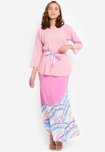 Contour Batik Set from Masterpiece By Masrina Abdulla in Pink