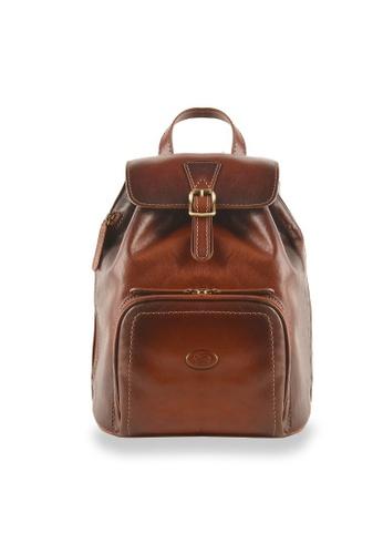 Charles Berkeley brown Charles Berkeley Italian Craftsmanship Toscana Vintage Backpack -4054 DB8BFAC2D70A78GS_1