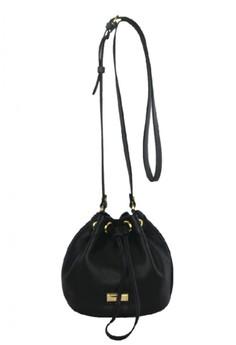 Ladies Leather Drawstring Bag