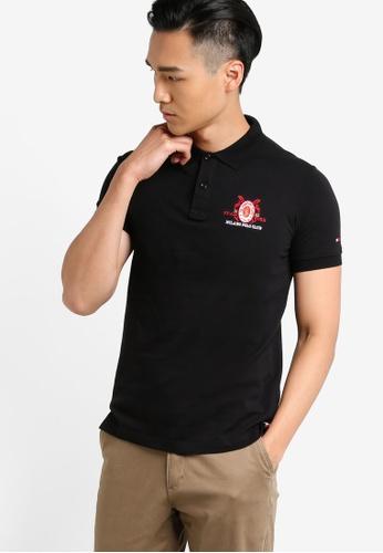 MILANO black Short Sleeve Polo Shirt MI248AA86LGZMY_1