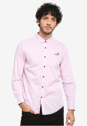 Fidelio pink Micro Collar Long Sleeves Shirt 5D37DAA260A81AGS_1