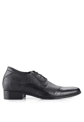 Keeve black Keeve Shoes Peninggi Badan Formal 058- Black BDA76SH5C66D66GS_1