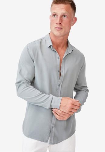 Cotton On blue Cayman Long Sleeve Shirt 35AFFAAC1DA517GS_1