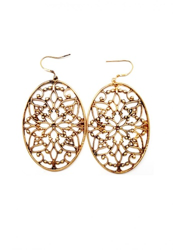 Paulini gold Earring Hazelina  (AG) PA011AC00VSTMY_1