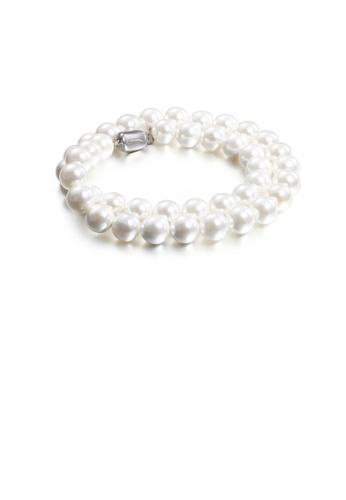 Glamorousky white Fashion Elegant Geometric Round White Imitation Pearl 316L Stainless Steel Necklace BD7ACAC5FC7FA9GS_1