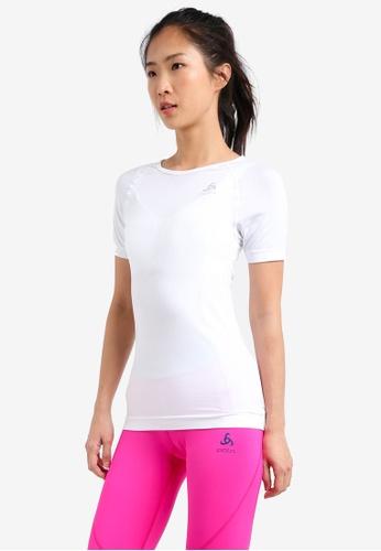 Odlo white Crew Neck Evolution Light Short Sleeve Shirt OD608AA0S127MY_1