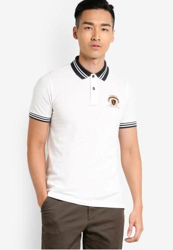 MILANO white Short Sleeve Polo Shirt MI248AA94LGRMY_1