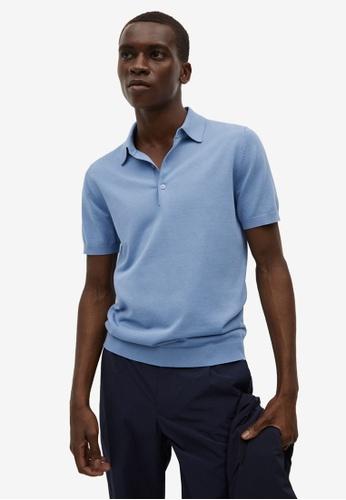 MANGO Man 藍色 針織棉 Polo 襯衫 0BB6BAA7DA7DA8GS_1