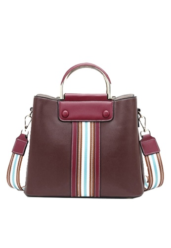 Twenty Eight Shoes brown VANSA Color Matching Cow Leather Hand Bag VBW-Hb2262 93AA5ACBFBDBC9GS_1