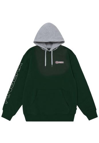 Fingercroxx green Logo badge hoodie 62235AA6106F21GS_1