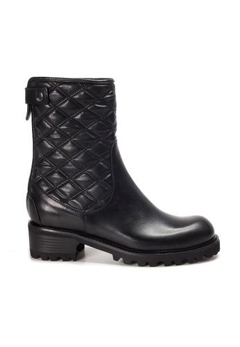 Shu Talk black XSA Classy Mid Calf Leather Boots 9870DSHD3F59BCGS_1