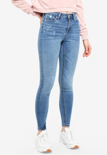 Miss Selfridge blue Lizzie Skinny Fit Light Blue Jeans 2F66EAA3D8D045GS_1