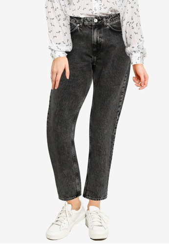 French Connection black Roder Flicker Denim Mom Jeans 98E06AA299F369GS_1