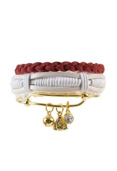 Pack of 3 Bracelets - Buddha Charm Stack