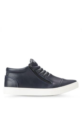 Spiffy blue Zipper Detail Sneakers SP352SH75IOMMY_1